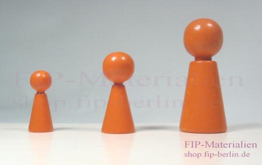 3-er Set Familienbrett-Figuren Humanos / Solid