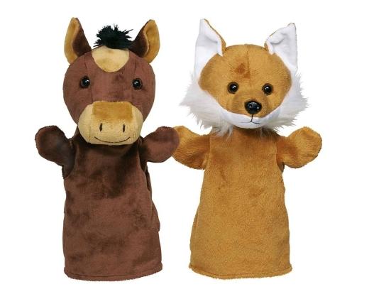 Handpuppen Pferd & Fuchs