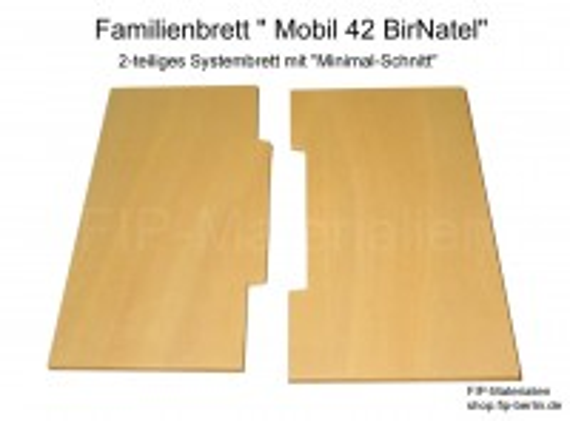 Familienbrett Mobil 42 BirNatel (2-teilig, Birke-Pappel)