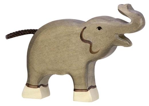 Kleiner Elefant (Rüssel hoch) (HOLZTIGER)
