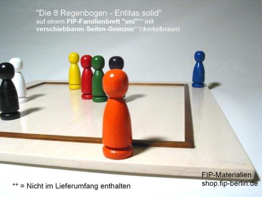 8-er Set Familienbrett-Figuren Regenbogen - Entitas Solid