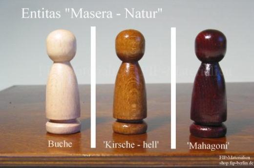 Familienbrett-Figur Entitas Masera - Natur