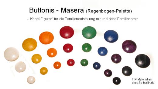 Buttonis - Masera (Knopf-Figuren mit Holzmaserung)