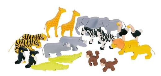 Tierset Afrika 20 Tiere - bunt