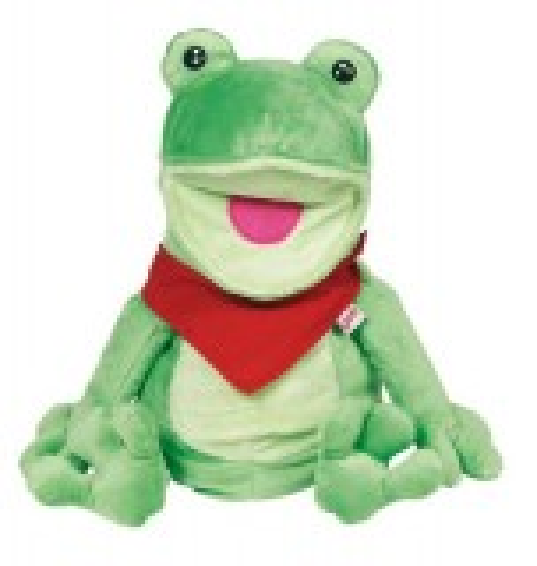 Handpuppe Frosch Frilo