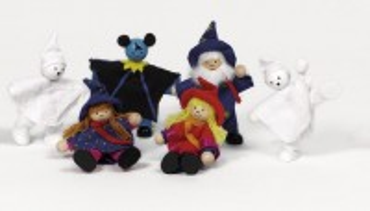 Biegepuppen-Set Kinder Grusel - Halloween