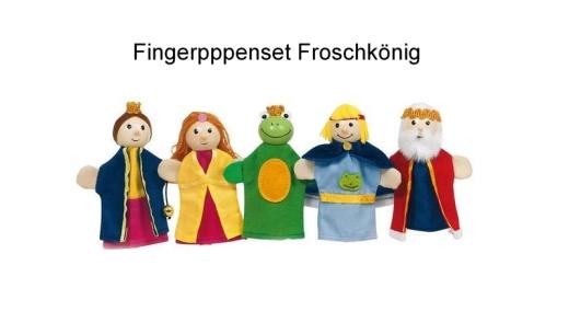 Fingerpuppenset Froschkönig