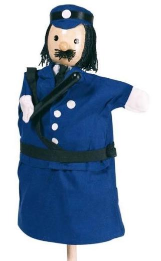 Handpuppe Polizist (mit Holzkopf)