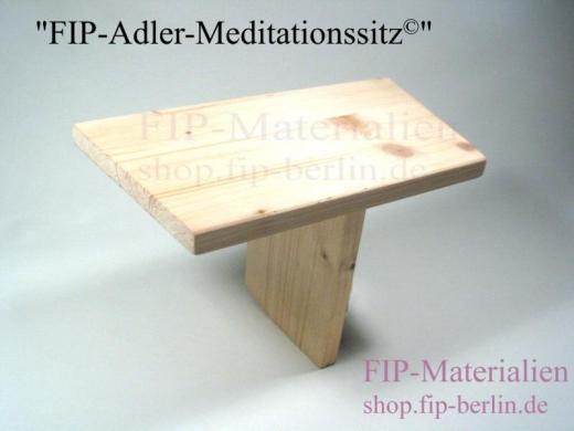 Adler-Meditationssitz - Meditationsbank (einbeinig)