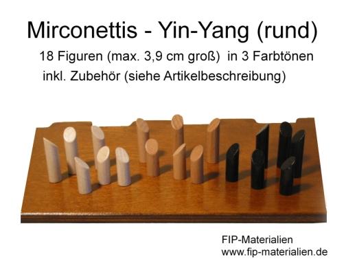 18 FIP-Micronettis rund - Yin Yang