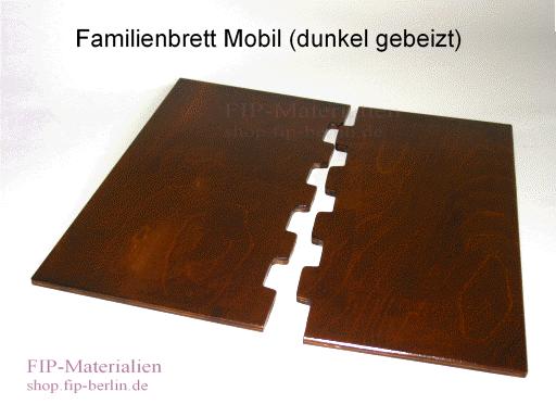Familienbrett Mobil 37 KieKirel (2-teilig. dunkel gebeizt/lasiert)
