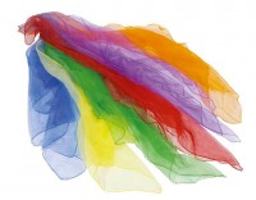 6 Tücher in Regenbogenfarben