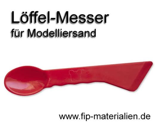 Löffel-Messer für Modelliersand