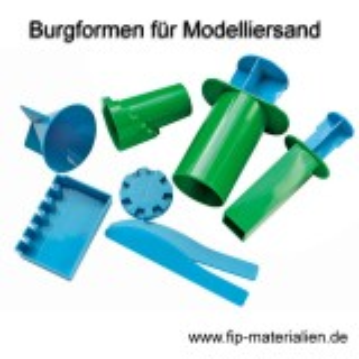 Burgformen-Set für Skulptursand - Modelliersand