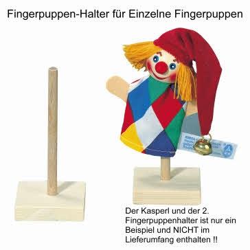 Fingerpuppen-Halter, Fingerpuppen-Ständer für eine Fingerpuppe