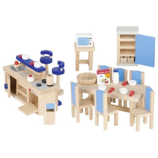 Puppenmöbel Küche Blau