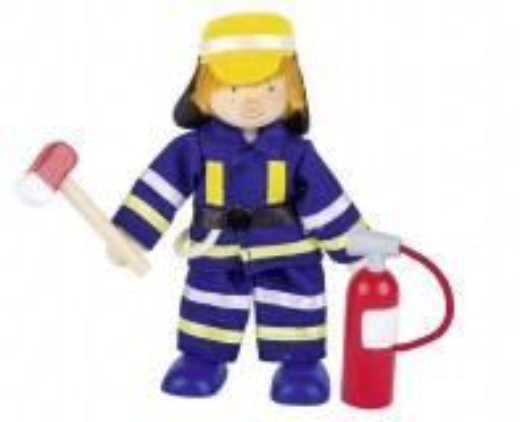 Biegepuppe Feuerwehrmann Löscher