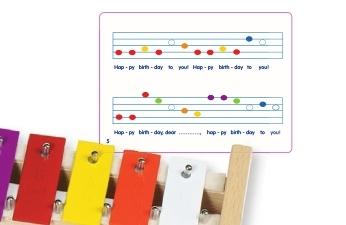 Metall-Xylophon mit 15 Tonplatten