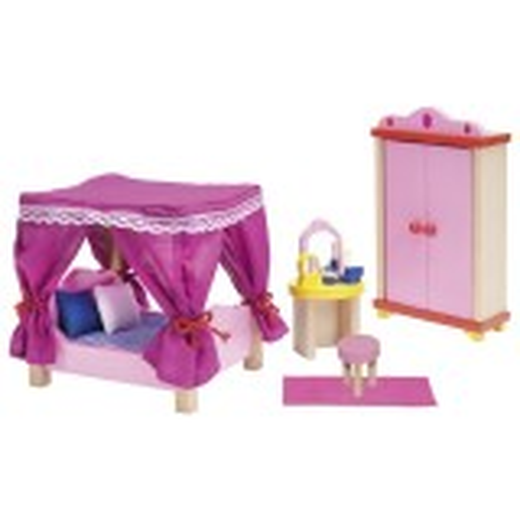 Puppenmöbel Schloss Schlafzimmer