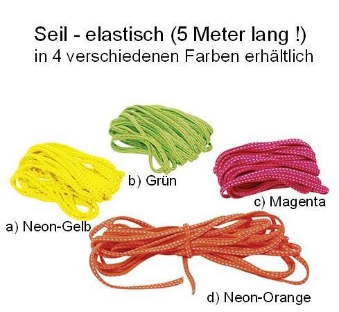 Gummi-Seil (elastisch) 5 Meter lang - 4er-Pack!