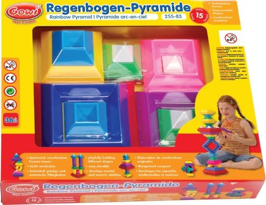 Regenbogen-Pyramide 15-teilig (Gowi).