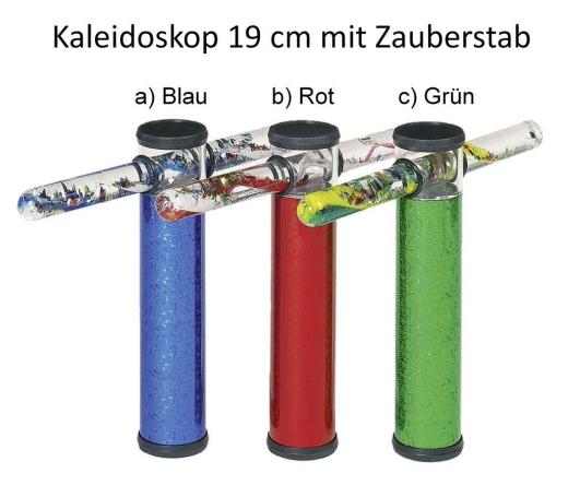 3er-Set Zauberstab-Kaleidoskope 19 cm mit Zauberstab
