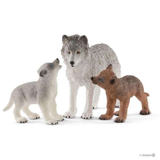 Wolfsmutter mit Welpen (Schleich)