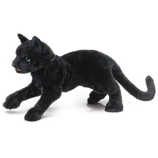 Schwarze Katze - Folkmanis