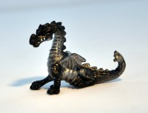 Mikro Tier - Drache - Schwarz-Silber (Bullyworld / Bullyland)