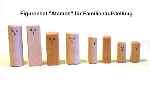 8er Figuren-Set  Atamos für Familienaufstellung / Systemaufstellung